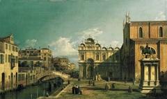 The Campo Santi Giovanni e Paolo, Venice, with the West End of the Church and the Scuola di San Marco