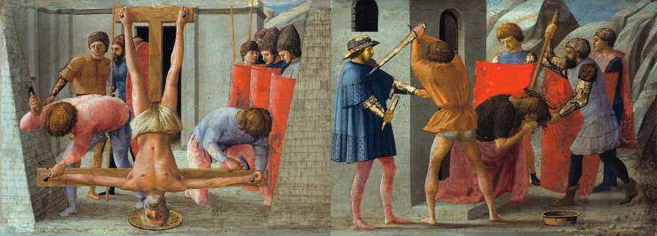 The Crucifixion of Saint Peter and the Decapitation of Saint John the Baptist