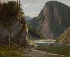 The Dunajec River in the Pieniny Mountains