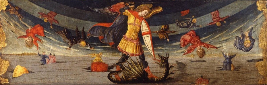 The Fall of the Rebel Angels with St Michael Fighting the Dragon