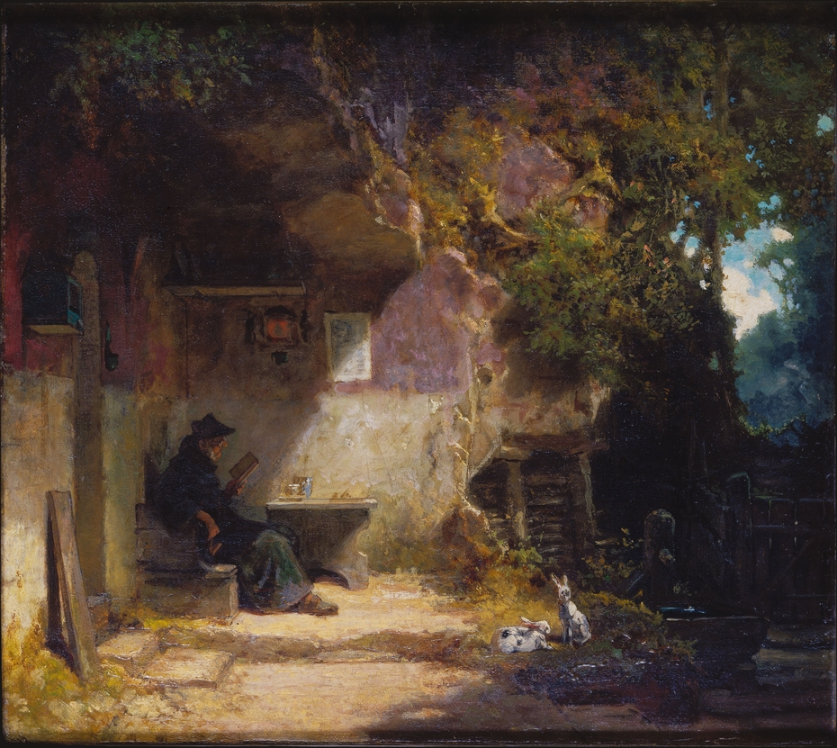 The Hermit in front of His Retreat