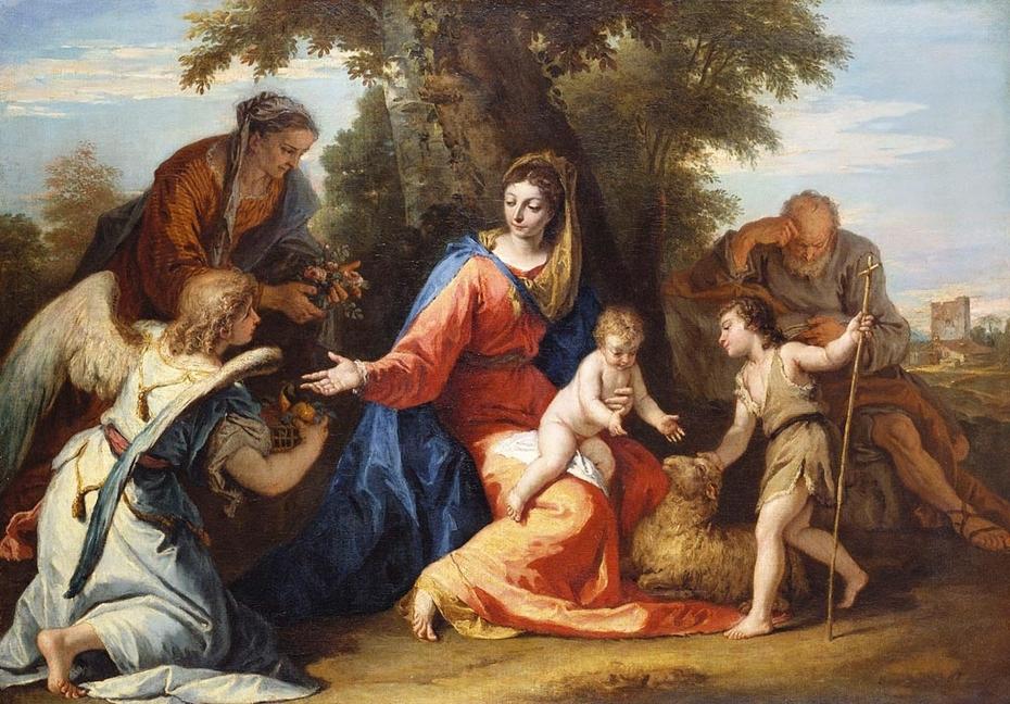 The Holy Family with Saint Elizabeth, Saint John the Baptist and an Angel