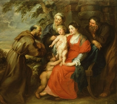 The Holy Family with Saint Francis