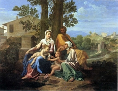 The Holy Family with Saint John and Saint Elizabeth in a Landscape