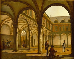 The Old Amsterdam Stock Exchange by Hendrick de Keyser