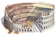The Coliseum under construction