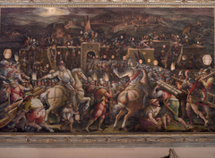 The storming of the fortress near Porta Camollia in Siena
