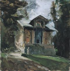 The studio of the painter Heinrich von Angeli in Reichenau