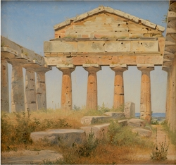 The Temple of Athena in Paestum