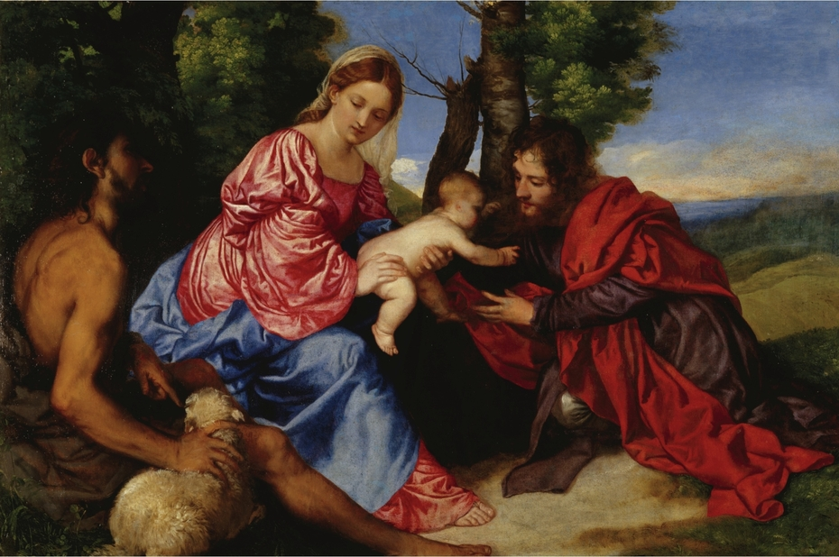 The Virgin and Child with St John the Baptist and an Unidentified Saint