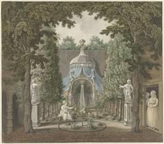 Theatre Scene in a City Garden
