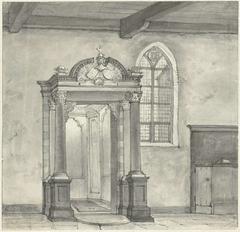 Toegang tot de kapel met de grafkelder van de Heren van Zandvoort, in de kerk te Zandvoort