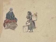 Twee studies van vissersvrouwen