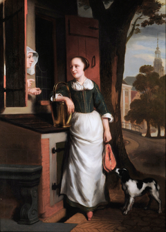 Two chattering housewives