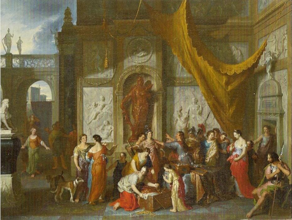 Ulysse reconnaît Achille parmi les filles de Lycomède