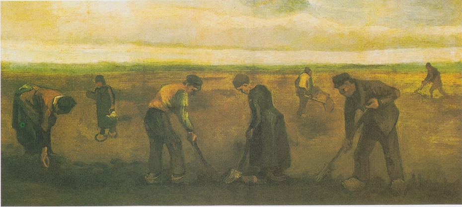 Peasants Planting Potatoes
