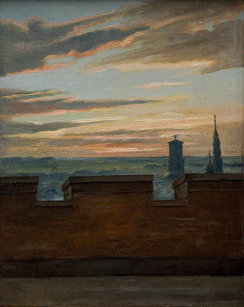 View of Copenhagen at Sunset