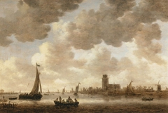 View of Dordrecht downstream from the Grote Kerk