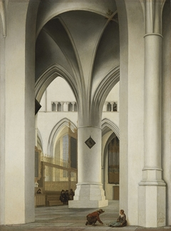 View of the north choir of the St. Bavokerk, Haarlem
