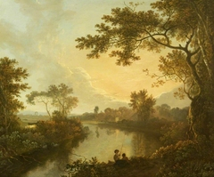 View of the River Dee near Eaton Hall, Cheshire