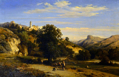 View of the village of Cagnes, near Antibes