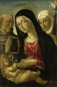 Virgin and Child with St Bernardino and St Catherine of Siena
