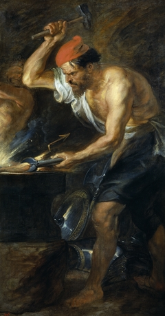 Vulcan forging the Thunderbolts of Jupiter