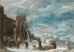 Winter Landscape with the Adoration of the Shepherds