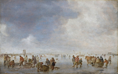 Winter Scene on the Ice