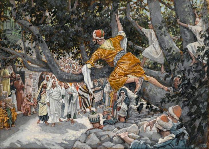 Zacchaeus in the Sycamore Awaiting the Passage of Jesus (Zachée sur le sycomore attendant le passage de Jésus)